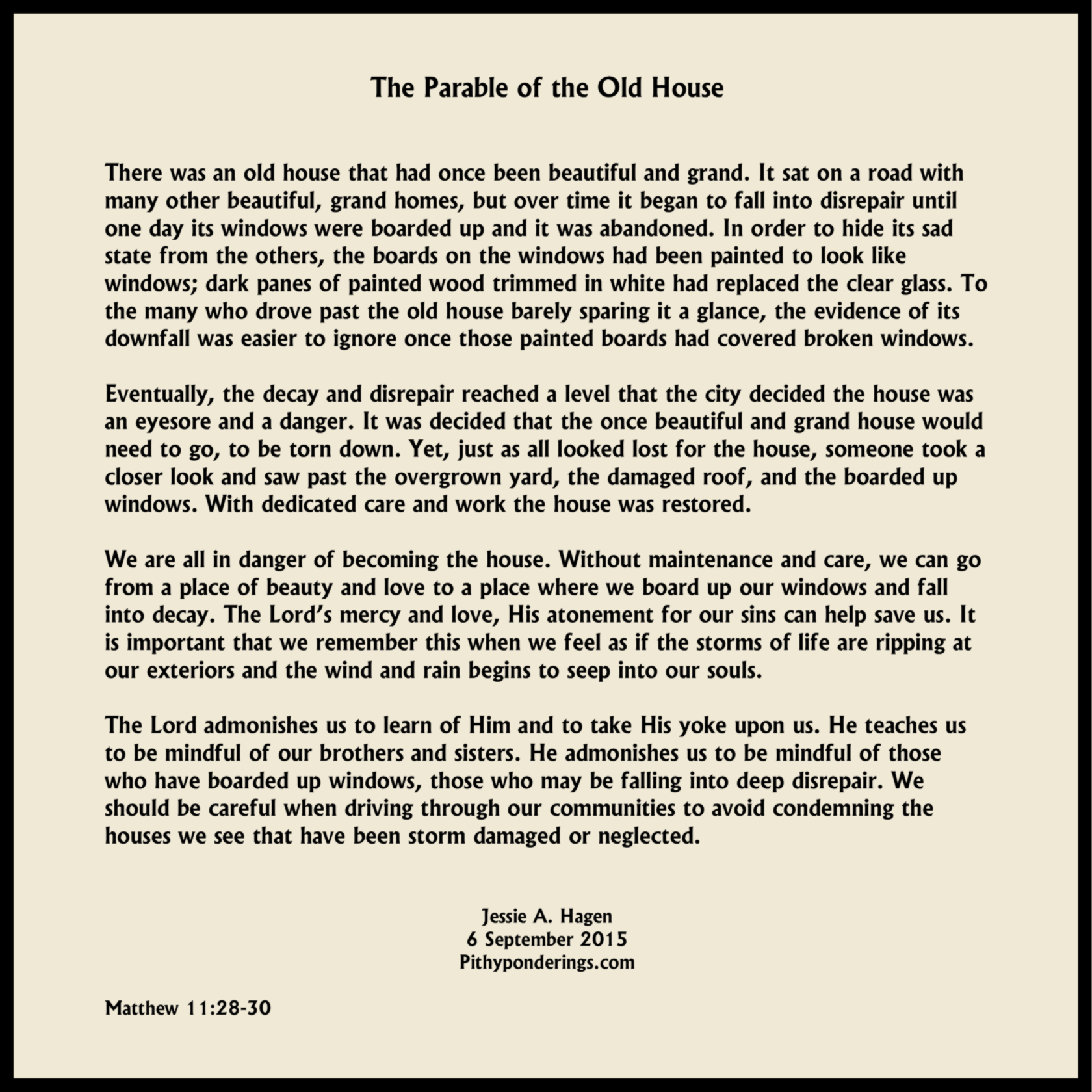 The Parable of the Old House - sm