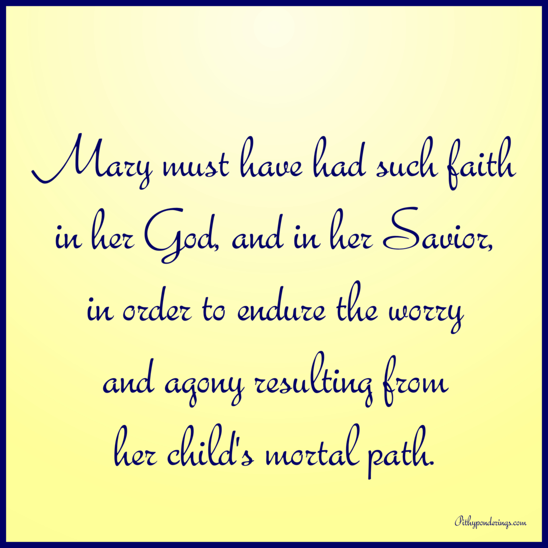 Mary's Faith