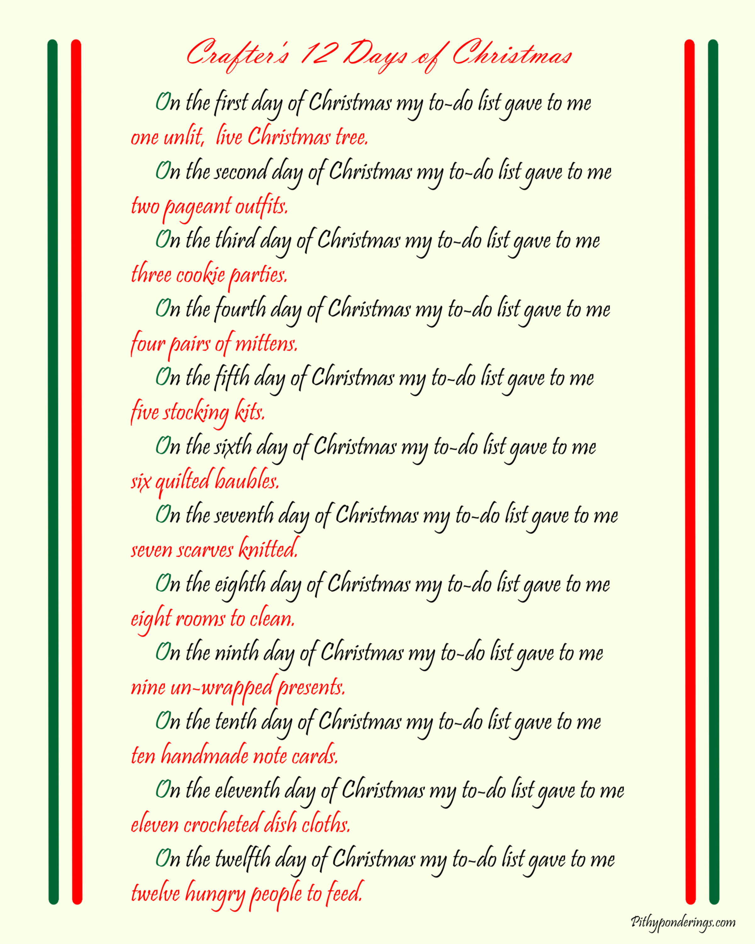 Crafters 12 Days of Christmas
